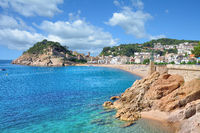 Tossa de Mar at Costa Brava,Catalonia,mediterranean Sea,Spain