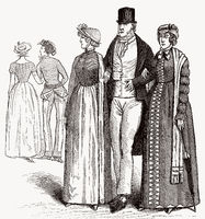 English costumes, 19th century