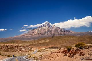 Majestic Nevado Sajama volcano