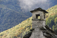 typical stone house in the valley of maggia