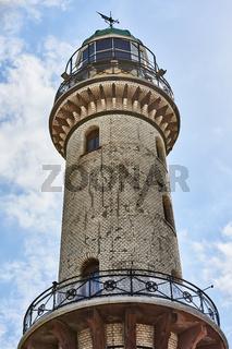 Historischer Leuchtturm Rostock Warnemünde, Deutschland
