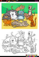 cats and kittens characters group color book