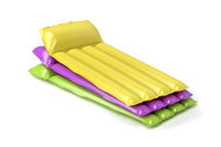 Beach mattresses with different colors