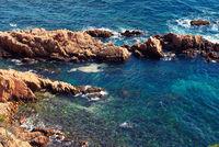 Rocky seaside. Costa Brava. Spain