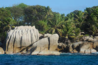 Famous granite rocks at the Coco Island