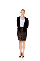 Young elegant smiling business woman