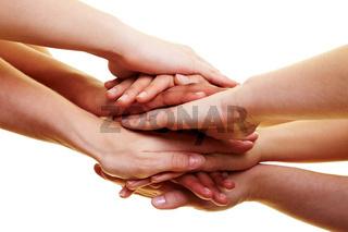 Verbindende Hände