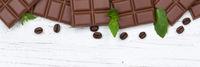 Schokolade Milchschokolade Tafel Essen Banner Textfreiraum von oben