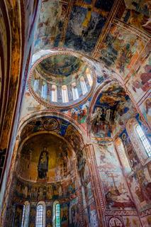 Interior and ceiling of Gelati monastery, Georgia