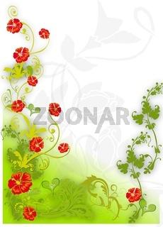 Karte floraler Hintergrund grün