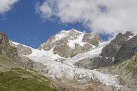 glacier in Val Veny