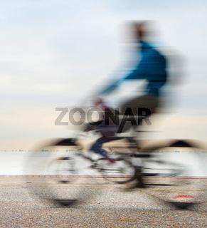 Cycling on embankment