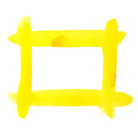 Yellow watercolor frame