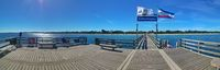 Panoramic picture of the pier of the Baltic resort Boltenhagen.