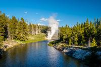 Riverside Geyser in Yellowstone National Park