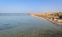 Egyptian beaches in the summer