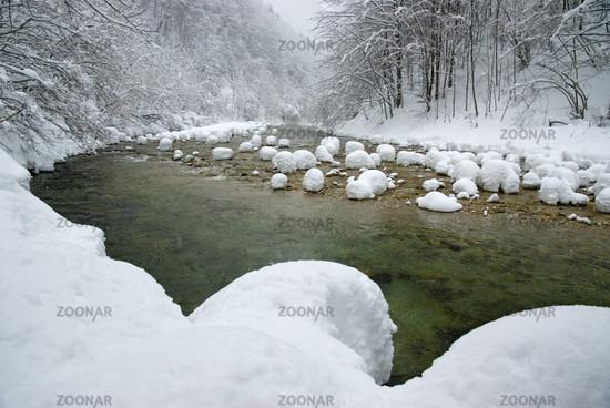 Reichramingbach im Winter, Nationalpark Kalkalpen, Oberösterreich, Österreich