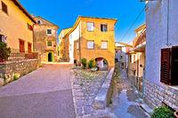 Medieval town of Kastav colorful street view