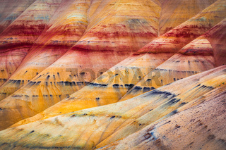 Painted Hills detail, John Day Fossil Beds National Monument, Or
