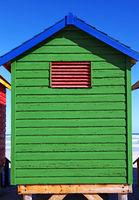 colorful beach cabin, Muizenberg, South Africa