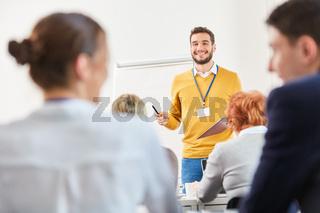 Mann als Redner und Dozent