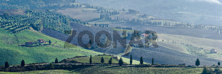 Panoramic view of the Val d'Orcia, Tuscany, Italy