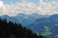 View from Mittagberg to the Allgäu Alps