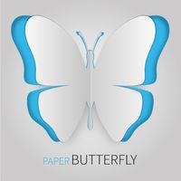 Paper butterfly blue