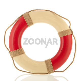 Lifebuoy isolated over white