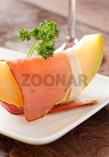 Schinken und Melone