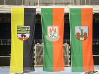 Flags in the GETEC ARENA Magdeburg Saxony-Anhalt