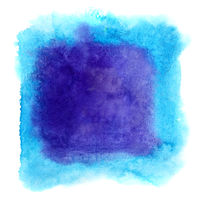 Blue watercolor frame
