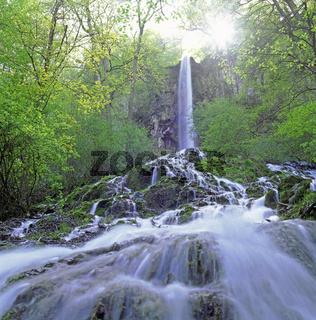 Uracher Wasserfall, Schwaebische Alb, Deutschland