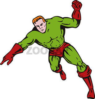 Superhero run and point