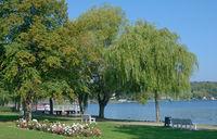 at Promenade of Krakow am See,Mecklenburg Lake District,Germany