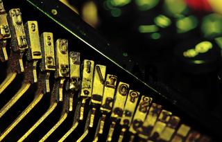Schreibmaschinen Typen mit Tönung