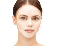 close up of woman with collagen facial mask