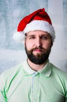 Happy bearded man