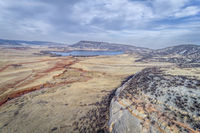 northern Colorado foothills aerial view