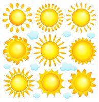 Abstract sun theme collection 3