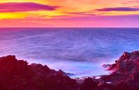 Beautiful sundown over Atlantic Ocean