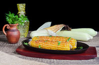 On the cob grilled corn