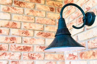 Retro wall lamp - vintage sconce - on brick wall