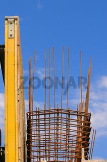 Baustahl- Baustelle