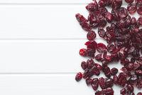 Tasty dried cranberries.