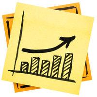 growth concept - doodle graph