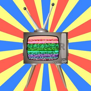 Old Broken Television. Glitch on Retro TV Screen