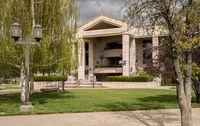 Nevada State Supreme Court building entrance in Carson City