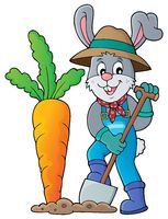 Rabbit gardener theme image 1
