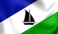 3D Flag of the Puerto Montt